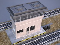 tower signal train 3d model