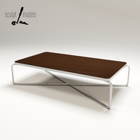 metro coffee table 3d model