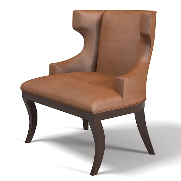 Traditional art deco wing chair modern contemporary armchair
