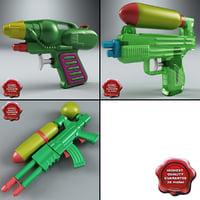 water guns 3d model