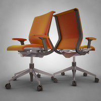 3d modern office chair -