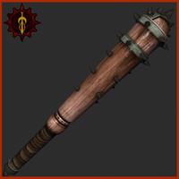 medieval mace 3d 3ds
