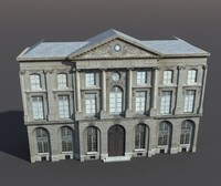 building exterior modeled 3d 3ds