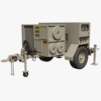 US Military Environmental Control Unit Trailer