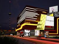 professional photorealistic city night 3d model