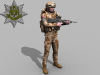 3ds max rigged british royal anglian