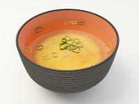 miso soup 3d max