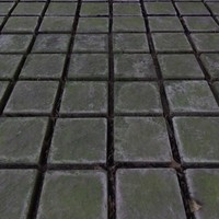 dark tiles flooring 3ds