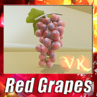 Photorealistic Red Grapes + High Resolution Textures