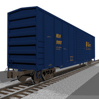 train car box 3d c4d