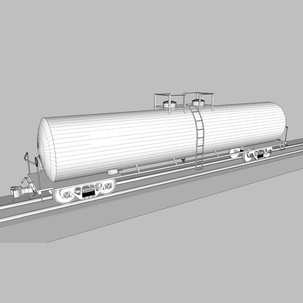 cinema4d train car tank - Train Car: Tank Car: C4D Format... by phantomliving