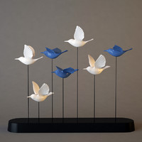 3d model decor birds