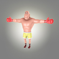 3d cool cartoon boxer model