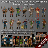 Unlimited_low_poly_fantasy_character_KIT
