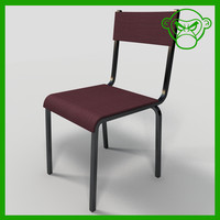 3d model dining cafe chair