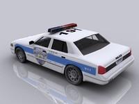 3d model of new york police car