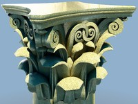 3d dxf corinthian column