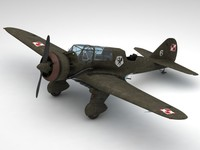 3d model pzl23 karas light bomber