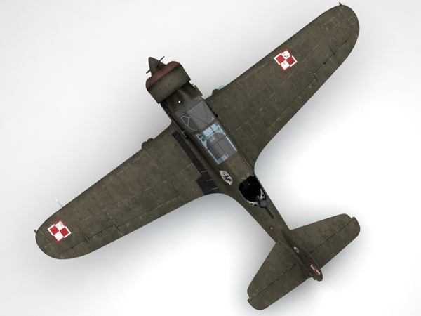 3d model pzl23 karas light bomber - Pzl 23 Karas light bomber... by fisherman3d