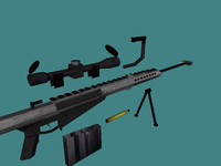 3ds barrett m107 50 caliber