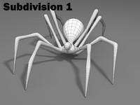 basic mesh spider 3d model