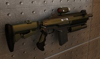 automatic rifle 3d 3ds
