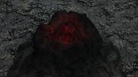 3d volcano underwater model