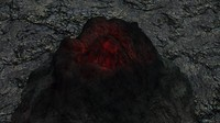 volcano underwater obj