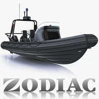 3d military inflatable boat zodiac model
