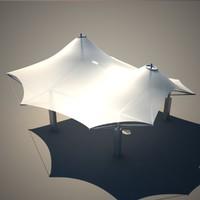 3d max membrane roof