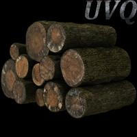 3d firewood logs model