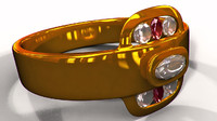 gold diamond ring 3d model