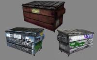 3d model asset dumpsters