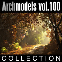 archmodels vol 100 winter trees 3d model