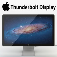 3d model of realistic apple led display