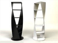 3d shelf dna bookshelf model