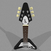 Gibson Flying V Guitar: C4D Format