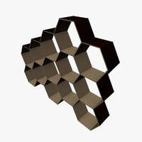 hexagonal shelving shelfs fbx