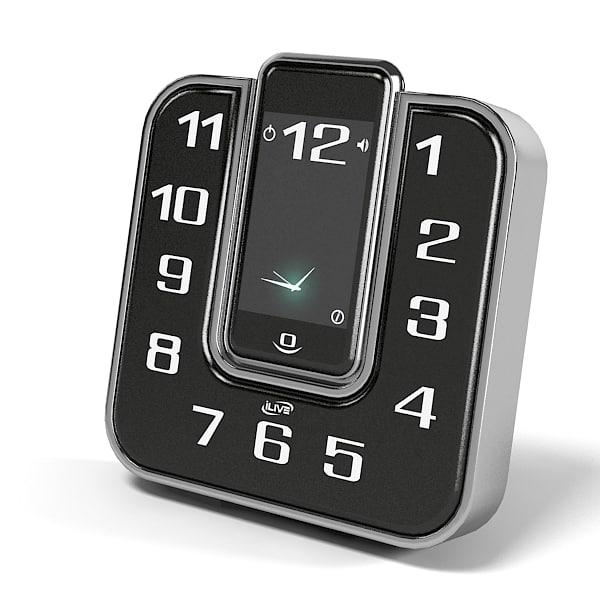 Ilive ICP391B Clock Radio modern table Gadget digital.jpg