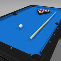 3d model pool billiards