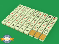Mahjong Tiles Set