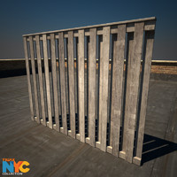 3ds max wooden fence studios