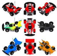 3d model buggy variations parts car