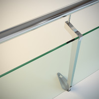 Steel railing with glass (type 1)
