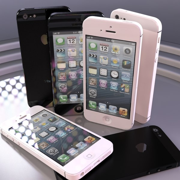 apple iphone 5 3d obj - Apple iPhone 5 Black and White Collection... by CGArena