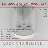 3d bathroom bath model