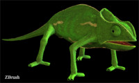 chameleon rig 3d ma