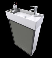 3d modern bathroom sink model