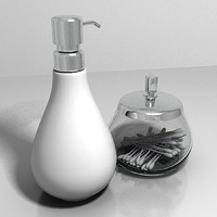 bathroom soap dispenser container 3d max