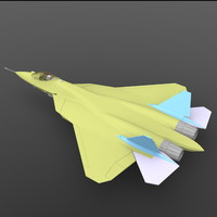 3d model of sukhoi pak fa t-50